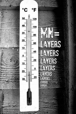 Minnesota Layers Art Print