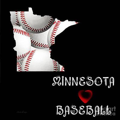 Digital Art - Minnesota Loves Baseball by Andee Design