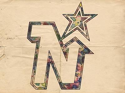 Painting - Minnesota North Stars Hockey Art by Florian Rodarte