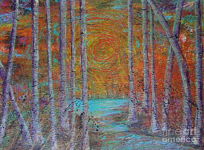Sun Rays Painting - Minnesota Sunset by Jacqueline Athmann