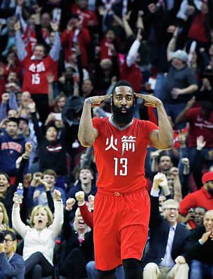 Photograph - Minnesota Timberwolves V Houston Rockets by Scott Halleran