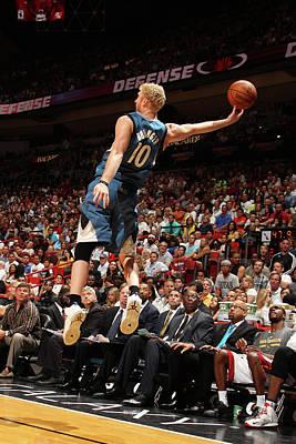 Photograph - Minnesota Timberwolves  Vs Miami Heat by Issac Baldizon