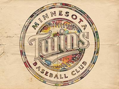 Painting - Minnesota Twins Logo Vintage by Florian Rodarte