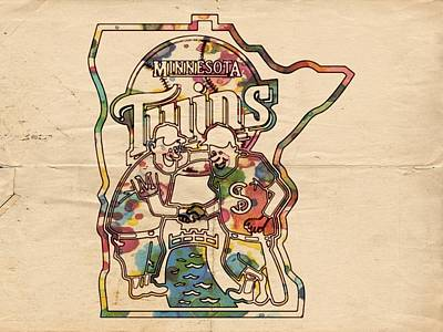 Painting - Minnesota Twins Poster Art by Florian Rodarte
