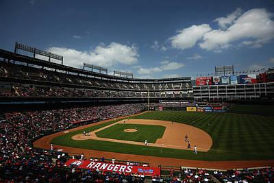 Photograph - Minnesota Twins V Texas Rangers by Tom Pennington