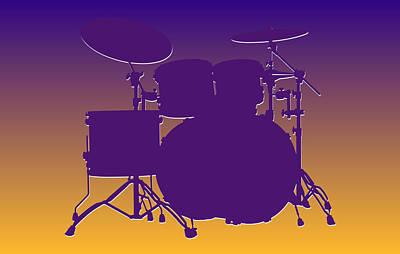 Drum Photograph - Minnesota Vikings Drum Set by Joe Hamilton
