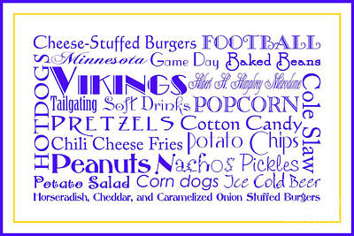 Digital Art - Minnesota Vikings Game Day Food 3 by Andee Design