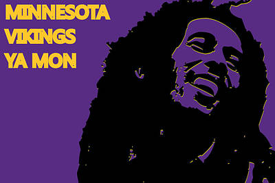 Sports Photograph - Minnesota Vikings Ya Mon by Joe Hamilton