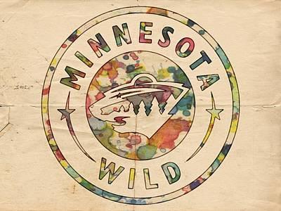 Hockey Painting - Minnesota Wild Poster Art by Florian Rodarte