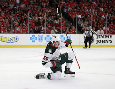 Photograph - Minnesota Wild V Chicago Blackhawks - by Jonathan Daniel
