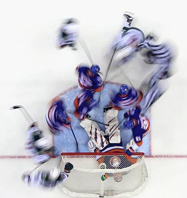 Photograph - Minnesota Wild V New York Islanders by Bruce Bennett