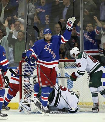 Photograph - Minnesota Wild V New York Rangers by Bruce Bennett