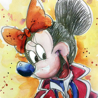 Mouse Painting - Minnie Mouse by Andrew Fling