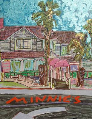 Graphics Painting - Minnie S Restaurant by James Christiansen