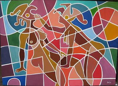 Minoan Lovers Art Print by Bala Deva