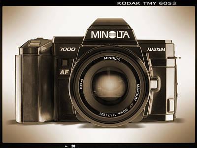 35mm Digital Art - Minolta Maxxum by Mike McGlothlen
