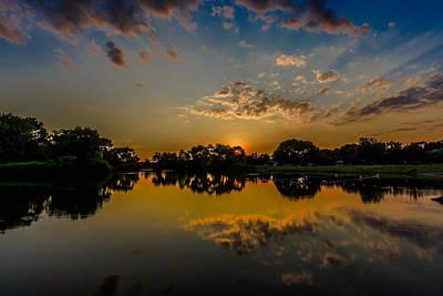 Minooka Sunset Art Print by Randy Scherkenbach