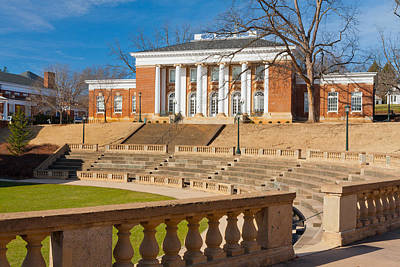 Photograph - Minor Hall At Uva by Melinda Fawver