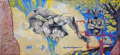 Minotaur Painting - Minotaur by Derrick Higgins