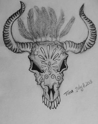 Minotaur Drawing - Minotaur  by Tima Timy