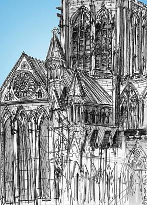 Medieval Entrance Digital Art - Minster Rose York by Yvonne Lynn