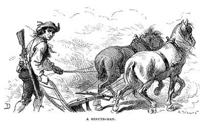 Horse-drawn Plow Photograph - Minuteman: Farmer, 1776 by Granger