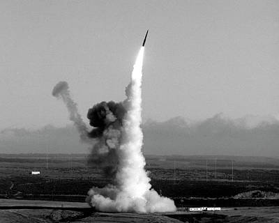 Minuteman Photograph - Minuteman Nuclear Missile Launch by Us National Archives