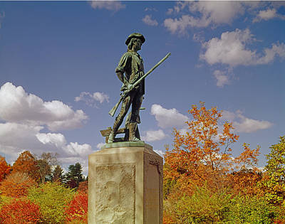 Photograph - 133504-minuteman Statue  by Ed  Cooper Photography