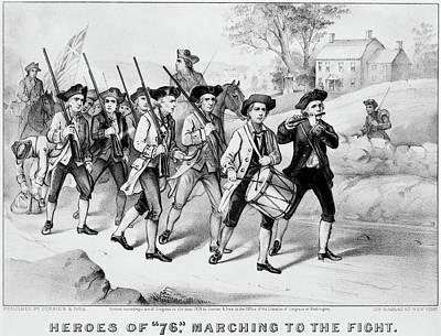Minuteman Painting - Minutemen Heroes Of 1776 by Granger