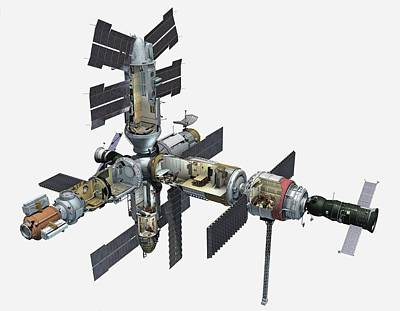 Space Exploration Photograph - Mir Space Station by Dorling Kindersley/uig