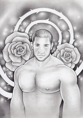 Drawing - Miracle De La Rose by Rudy Nagel