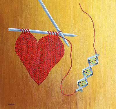 Painting - Miracle Of Dna by Carol De Bruyn