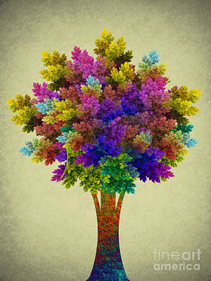 Miracle Digital Art - Miracle Tree by Klara Acel