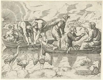 Miraculous Fishing, Cornelis Massijs Art Print