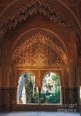 Mirador De Lindaraja La Alhambra Print by Guido Montanes Castillo