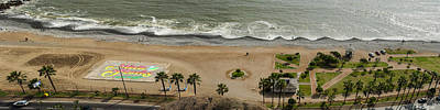 Miraflores Beach Panorama Art Print