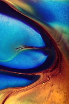Photograph - Mirage - Fluid Abstract Art Macro Photography By Kredart by Serg Wiaderny