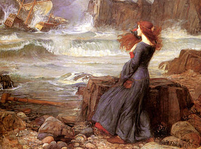 Romantic Realism Painting - Miranda And The Tempest by Philip Ralley