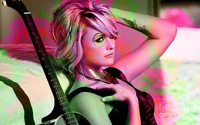 Singer Mixed Media - Miranda Lambert Painting by Marvin Blaine