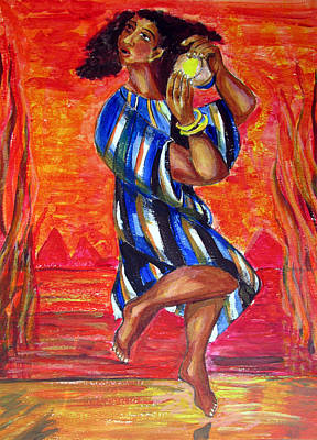 Painting - Miriam Dancing In Red Sea by Sarah Hornsby