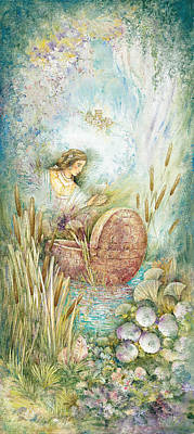 Jerusalem Painting - Miriam In The Bulrushes by Michoel Muchnik