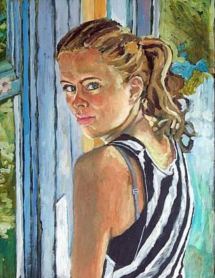 Miriam Art Print by Janet Ashworth