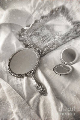 Photograph - Mirror And Other Items Across Unmade Bed by Sandra Cunningham