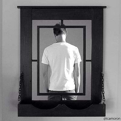 Painted Photograph - Mirror by Cameron Bentley