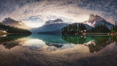 Banff Photograph - Mirror Emerald by Juan Pablo De
