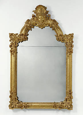 Mirror Drawing - Mirror Frame Unknown Paris, France by Litz Collection
