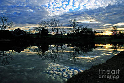 Photograph - Mirror Image Clouds by Jinx Farmer