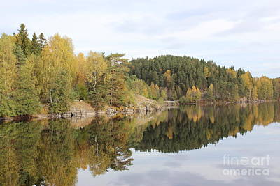 Photograph - Mirror Image Of The Fall Season by Jeanette Rode Dybdahl