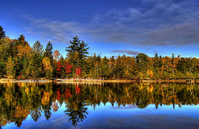 Maine Landscapes Digital Art - Mirror Image by Sharon Batdorf