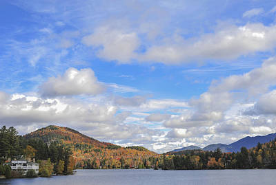 Photograph - Mirror Lake Inn Lake Placid Ny Fall by Terry DeLuco